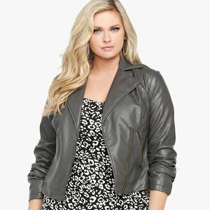 Torrid  gray ZIP-UP MOTO JACKET 2x